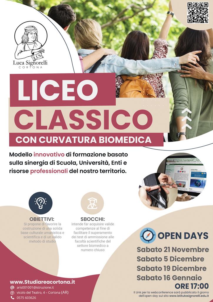 Brochure corso Liceo Classico Biomedico