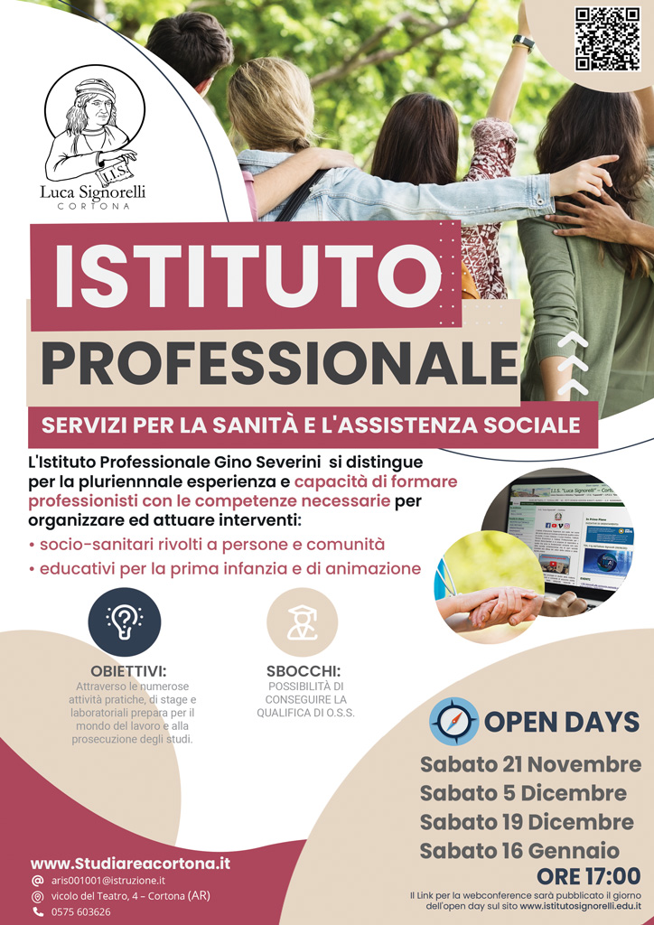 Brochure corso Servizi per la Sanità e l'Assistenza Sociale (I.P.S.S.)